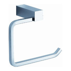 Fresca - Fresca Ottimo Toilet Paper Holder - No Cover - All our bathroom accessories are imported and are selected for their modern, cutting edge designs. All accessories are made with brass with a quadruple chrome finish. All our accessories have been chosen to complement our other line of products including our vanities, steam showers, whirlpools, and toilets.
