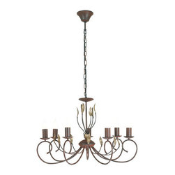 Eglo - Eglo 86868 Catania Seven-Bulb Chandelier - Catania Seven-Bulb ChandelierThe Catania collection's nature-inspired decor and rich old-world styling make this family a timeless classic. The deep, earthy tones and golden accents highlight the storied beauty of these elegant fixtures.Product Features: