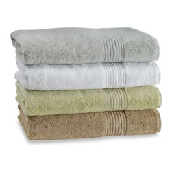 Turkish Luxury Collection - Turkish Modal Wash Cloth - Crafted with Turkish cotton and modal, these soft, fluffy and luxuriously plush towels are soft and absorbent for more efficient drying. The collection includes towels and matching bath mat (all sold separately).