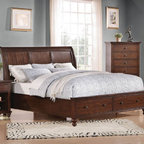 Acme Furniture - Aceline Trasitional Cherry Queen Bed - 21380Q - Aceline Collection Queen Bed