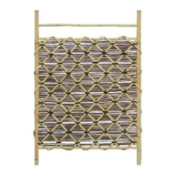 Oriental Furniture - Bamboo Fence Door WD04-2 - A unique design bamboo gate, hand crafted in classic Japanese garden design. Made from authentic, light color kiln dried bamboo. Homeowners through out the US are using their yards to create elegant Japanese style Zen gardens.