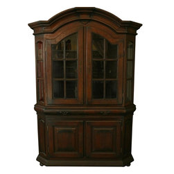 EuroLux Home - Massive Spanish Mission Oak Display Cabinet - Product Details