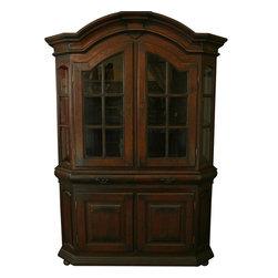 EuroLux Home - Massive Spanish Mission Oak Display Cabinet - Product Details