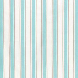 "Ballard Designs - Suzanne Kasler Nantucket Stripe Turquoise Sunbrella Fabric by the Yard - Content: 100% Sunbrella® Acrylic. Repeat: Non-railroaded fabric, 4"" Repeat. Care: Spot clean with mild soap. Width: 54"" wide. Turquoise, tan & white stripes woven in a crisp canvas of washable, easy-care Sunbrella acrylic. Designed by Suzanne Kasler. Content: 100% Sunbrella Acrylic. . . . Because fabrics are available in whole-yard increments only, please round your yardage up to the next whole number if your project calls for fractions of a yard. To order fabric for Ballard Customer's-Own-Material (COM) items, please refer to the order instructions provided for each product.Ballard offers free fabric swatches: $5.95 Shipping and Processing, ten swatch maximum. Sorry, cut fabric is non-returnable."
