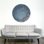 My Wonderful Walls - Scorpio and the Blue Ridge Mountains Decal - Astronomy Art by Elise Mahan, Large - - Product:  starry night sky over mountains wall decal