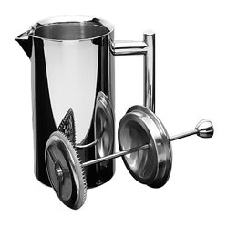 French Press, Mirror Finish, 18/10 stainless steel, 10 oz.