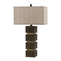 Cal Lighting - Cal Lighting BO-2169 Single Light 150 Watt Slatina Resin Wicker Table Lamp - Cal Lighting BO-2169 Transitional Single Light 150 Watt Slatina Resin Wicker Table LampCal Lighting has become one of the premiere designer/manufacturer of quality lighting products in North America with manufacturing facilities located in China. Their mission is to provide the home furnishing and lighting industries with quality products at competitive prices, timely delivery and most of all, reliable customer support and service. Cal Lighting carries a very wide selection of products that include wrought iron, mission/mica, lifestyle, juvenile, traditional/classical, task/functional and track/display lighting. Each year, they strive to provide their customers with the newest and latest designs.Features: