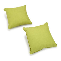 Blazing Needles - Blazing Needles Outdoor 20 in. Solid Outdoor Throw Pillow - Set of 2 - 9920-S-2- - Shop for Cushions and Pads from Hayneedle.com! Brighten up your outdoor entertainment area with the Blazing Needles Outdoor 20 in. Solid Outdoor Throw Pillow - Set of 2. Made with fade and water resistant fabric fun throws offer a soft poly fill for stylish comfort. Choose from color options to create a festive setting.About Blazing NeedlesBlazing Needles L.P. specializes in the manufacture of cushions pillows and futons. As a sister company of International Caravan Inc. Blazing Needles provides a wide variety of cushions to fit the frames and furniture pieces made by International Caravan. In particular Blazing Needles' production of papasan cushions occupies a unique niche within their industry and sets them apart as a prime supplier for certain retailers. Other services they provide include contract filling sewing and import sourcing. The headquarters of International Caravan and Blazing Needles is located in Fort Worth Texas.