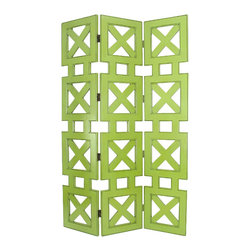 Wayborn - Wayborn Hunter Room Divider in Green - Wayborn - Room Dividers - 2369G -