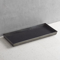 Zinc Boot Tray With Liner - This boot tray is a great — and stylish, of course — solution for the snowy days ahead.