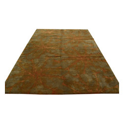 1800-Get-A-Rug - Oriental Rug Wool and Silk Modern Hand Knotted Rug Sh12106 - About Modern & Contemporary
