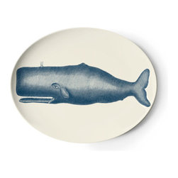 TP Whale Platter - The perfect practical and fun gift. This melamine platter is from Thomas Paul's Nautical line.