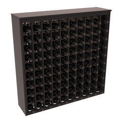 Wine Racks America - 100 Bottle Deluxe Wine Rack in Premium Redwood, Black Stain + Satin Finish - This wooden wine rack functions well as either a freestanding wine rack furniture or as part of a complete wine cellar design. Solid top and side enclosures promote the cool and dark storage area necessary for aging your wine properly. Your satisfaction and our racks are guaranteed.