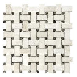 In Stock Mosaic - Ivory Basketweave