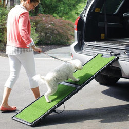 Gen7Pets - Gen7Pets Natural Step Pet Ramp Multicolor - G7572NS - Shop for Ramps Stairs and Accessories from Hayneedle.com! The Gen7 Pets Natural Step Pet Ramp is easy for dogs' paws to grip in dry or wet weather thanks to it's realistic faux green grass walking surface! Both sizes also have an easy locking folding design and rubber grips on both sides.