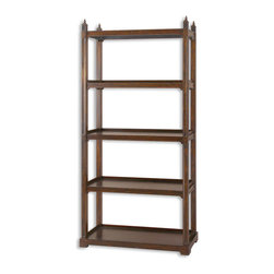 Uttermost - Uttermost 24126 Brearly Wood Etagere - Uttermost 24126 Brearly Wood Etagere