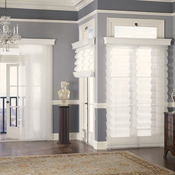 Graber Fresco Tear Drop Roman Shades - Graber Fresco Roman Shades offer the softness of a drapery with the practicality of a shade. Choose from a variety of fabric styles, colors and textures ranging from sheer to room darkening. Select looped shades with folds of fabric for a more dimensional look, or flat shades that feature a clean, traditional panel style. A complimentary fabric valance is included on all Graber Roman Shades.
