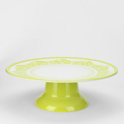 Cake Stand, Lime - Now this is a colorful and beautiful cake plate! It would look right at home in my new green kitchen.