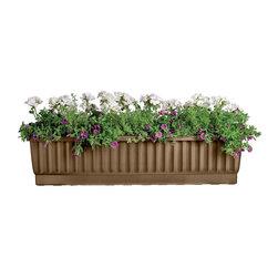 "Large Self Watering Window Box (39""), Bronze - Beautiful Self-Watering Window Boxes Keep Flowers Healthy & Happy"