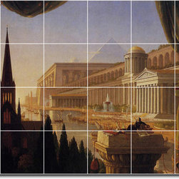 Picture-Tiles, LLC - The Architects Dream Tile Mural By Thomas Cole - * MURAL SIZE: 17x25.5 inch tile mural using (24) 4.25x4.25 ceramic tiles-satin finish.