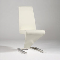Chintaly Imports - Sabrina Z Frame Upholstered Side Chair - White - Set Of 2 - Features: