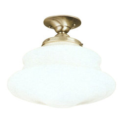 Hudson Valley Lighting - Hudson Valley Lighting Petersburg Semi Flush - Free shipping. The Hudson Valley Lighting Petersburg Semi Flush features 1-150 Watt Medium Standard A19 bulb. Shown in Satin Nickel finish.