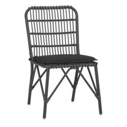 Kruger Black Dining Chair with Sunbrella Cushion