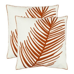 Safavieh 2-Pack Embroidered Orange Feather Toss Pillows - I've been trying to bring more color into my home lately, and this bold orange is the perfect accent for fall decorating. I love the simplicity of the feather.