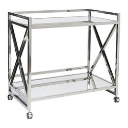 Gerard X Bar Cart, Silver -