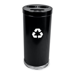 Witt Industries Combination 24 Gallon Black Recycling Bin