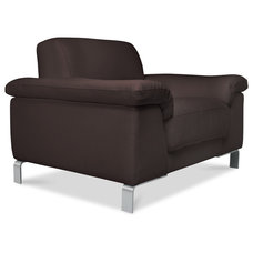 Contemporary Accent Chairs Ascot Brown Armchair