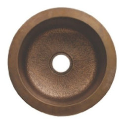 Whitehaus Collection - Hammered Bronze Whitehaus WH1818COPR Large Copper Round Single Bowl Kitchen Prep - Complement your d?cor with a large copper round drop in under mount kitchen prep sink by Whitehaus will fit perfectly in any kitchen. It's universal appeal, practical functionality will keep attractive looking for a long time. Use it to make food preparation and other kitchen activities. Classic, timeless designed elements can make modern d?cor more attractive and desirable.