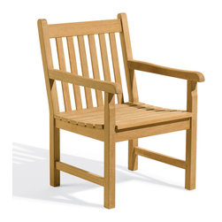 Oxford Garden - Classic Armchair - Classic Armchair The Classic Armchair and Side Chair are designed with straight clean lines for a traditional look and feel. The deep seats and relaxed fit add comfort to the experience of the outdoors. Handcrafted of shorea hard wood using mortise and tenon joinery, these chairs will last for years to come.