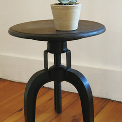 Crash Industrial Swivel Stool - If you're looking for unique, quality furniture, come visit amy dutton Home!  We carry commercial and custom artisan furniture that is perfect for any home.  This stylish stool is adjustable and subtle enough to make a great accent in any room of the house.