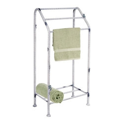 Stone County Ironworks - Whisper Creek Towel Stand (Hand Rubbed Pewter) - Finish: Hand Rubbed Pewter. Three tiers. Made from iron. 18 in. W x 10 in. D x 36 in. HAny one of our line of Whisper Creek bathroom accessories can add a sense of serenity to daily routine.