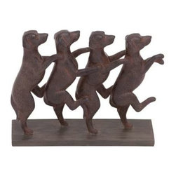 Benzara - Classic Lexington Standing Dogs Decor - Classic Lexington Standing Dogs Decor. The decor is really a work of art adding flair and interest to your abode. Some assembly may be required.