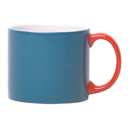 Jansen+co - Jansen+co My Mug Espresso, Blue with Red Handle - Known for its use of bold color combinations, Jansen+co's tabletop products combine high quality industrial production with a careful hand finish. A part of the My Mug series, this tiny mug is the perfect size for a shot of espresso in the morning, post meals, late afternoon—whenever you desire. Available in a variety of different colors (& the mugs with contrasting handles), it's encouraged to mix and match with the rest of the Jansen+co products, to create a bright, eclectic, collection of your own.
