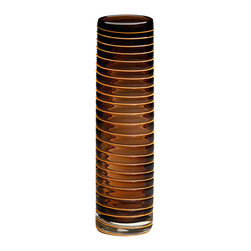 Cyan Design - Cyan Design Vesper Vase - Cyan Design Vesper VaseSpiral into style with the gorgeous Vesper Vase from Cyan Design. This glass vase has an elegant look in a rich-brown hue, while the cylinder shape is clean and classic. Dimensional spiral detailing from top to bottom draws the eye up, so you can use it as a neutral base for your fresh blooms or as a decorative glass accent in a transitional space.Available in two sizesMade in China
