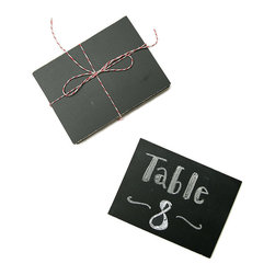 Le Petit Chalkboards - Set of 4 - The Le Petit Chalkboards are perfect fordisplaying messages for birthdays, anniversaries, or any other gathering ripe for a note of rustic charm. Their use and versatilityare only limited by your imagination. Use as place cards at your next dinner party or label dishes at the buffet. The possibilities are endless.