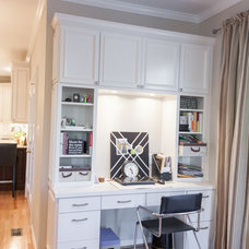 Transitional Home Office by Synergy Design & Construction