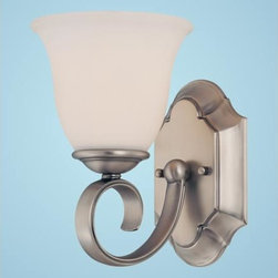 Millennium Lighting - Aberdeen Pewter One-Light Sconce with Etched White Glass - -Etched White Glass  -Wall sconces are simply lights that are attached to walls. They are some of the most versatile and practical lights, enabling you to illuminate rooms or hallways while improving their aesthetic appeal. Millennium Lighting - 1481-PW