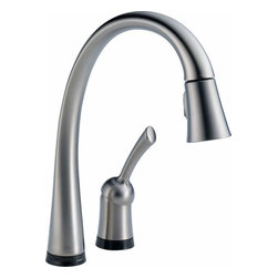Delta Faucet - Pull-Down Faucet w/ Touch2O Arctic Stainless - 980T-AR-DST Pilar 1-Handle Pull-Down Sprayer Kitchen Faucet with Touch2O Technology in Arctic Stainless