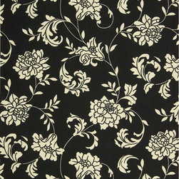 "Nourison - Nourison Home and Garden RS014 (Black) 7'9"" x 10'10"" Rug - Add some excitement to any surrounding with these magnificent indoor/outdoor rugs. Floral, scrollwork, and animal-skin patterns in vivid color make this a truly eye-catching collection. These versatile rugs are beautiful to look at, soft to walk on, easy to clean by just hosing down and can withstand almost all outdoor conditions. Indoor or Outdoor Uses UV Protected Mildew Proof Fade Resistant Easy Clean: Just Rinse with a Hose"