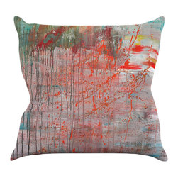 """Kess InHouse - Iris Lehnhardt """"Mots de La Terre"""" Splatter Paint Throw Pillow (26"""" x 26"""") - Rest among the art you love. Transform your hang out room into a hip gallery, that's also comfortable. With this pillow you can create an environment that reflects your unique style. It's amazing what a throw pillow can do to complete a room. (Kess InHouse is not responsible for pillow fighting that may occur as the result of creative stimulation)."""