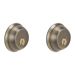 Schlage - Schlage Double Cylinder Deadbolt in Antique Brass - Double Cylinder Deadbolt in Antique Brass belongs to Door Locks Collection by Schlage The double cylinder deadbolt provides maximum security protection with style and design.  The warm brass undertones of Antique Brass express a time-honored appeal.  Schlage has built a legacy of providing the highest level of security to homes and businesses.  Install a Schlage, and you install nearly a century of total dedication to security, quality, and innovation.   Deadbolt (1)