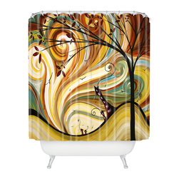DENY Designs - madart inc Out West Shower Curtain - Who says bathrooms can't be fun? To get the most bang for your buck, start with an artistic, inventive shower curtain. We've got endless options that will really make your bathroom pop. Heck, your guests may start spending a little extra time in there because of it!
