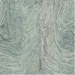 Ebru / Ocean - This malachite influenced pattern is a unique combination of masculine earthiness and feminine glamour. Calico Corners