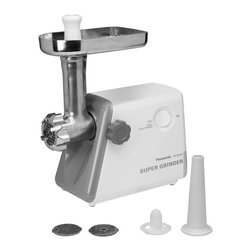 Panasonic - Heavy Duty Meat Grinder with Circuit Braker, Stainless Blades - Heavy duty design with all metal parts