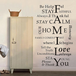 ColorfulHall Co., LTD - Family Wall Decal DIY I Love You - Family Wall Decal DIY I Love You