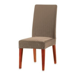 Sure Fit - Sure Fit Stretch Pinstripe Short Dining Chair Slipcover - Give your dining room a fresh, new look with Stretch Pinstripe Dining Chair Slipcovers. The subtle stripes have a clean, contemporary style that will complement any decor and the stretch fabric makes it easy to get a great fit.